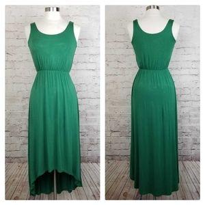 Felicity & Coco Green Hi-Lo Knit Midi Tank Dress
